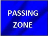 Passing Zone Flag